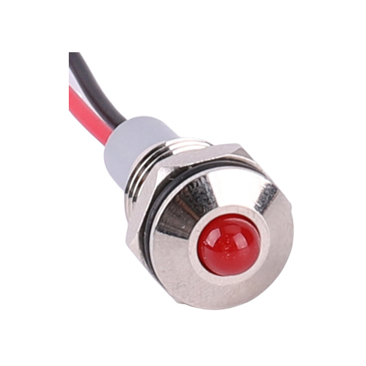 <strong>A06</strong> M10 mini hole diameter 220v Metal pilot light waterproof led indicator lamp with cable