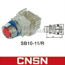 LAY3-11 SB10-11/R momentary push button switch with white clean contact block (CNSN)