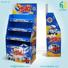 High Quality Cheap POP corrugated cardboard advertising display cases for car models
