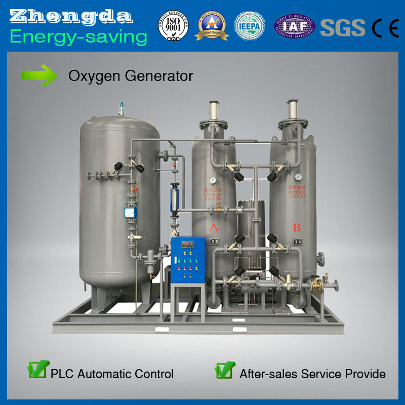 High purity PSA Oxygen Generator of Automatic control For Chemical Industry Or Package