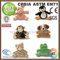 Custom all kinds of stuffed plush animal toys/pig/penguin/monkey/frog/dog/cat