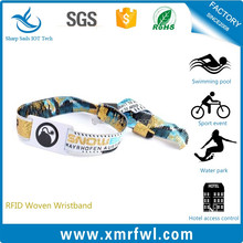 RFID woven wristband / fabric wristband / passive woven bracelets with ntag213 chip