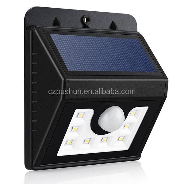 2016 Smart outdoor wall lamps 8LED solar wall light led garden lawn yard light
