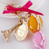 gift shops wholesale macaron keychain and magnets