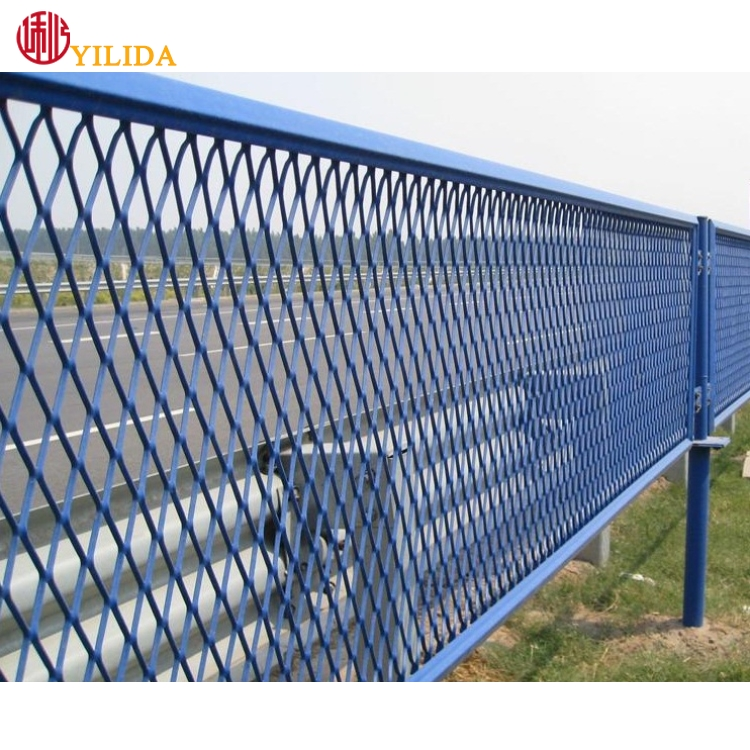 Highway Anti Glare Expanded Metal Mesh Fence