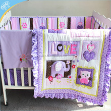 baby comforter bedding set with 3d applique craft