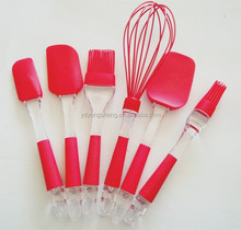 Silicone Kitchen Utensil Set of 6. Sturdy, Hygienic, and Non-stick Silicone Bakeware & Cookware