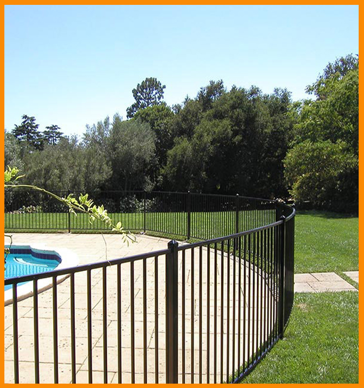 Wholesale cheap steel used portable black temporary swimming pool fence