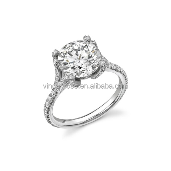 2016 unique fashion round engagement jewelry 925 silver ring base