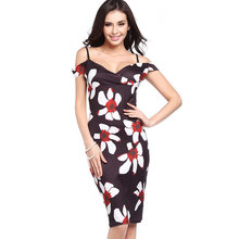 Z93207A 2017 New Fashion Sexy Bodycon Printed Women Pencil Dress
