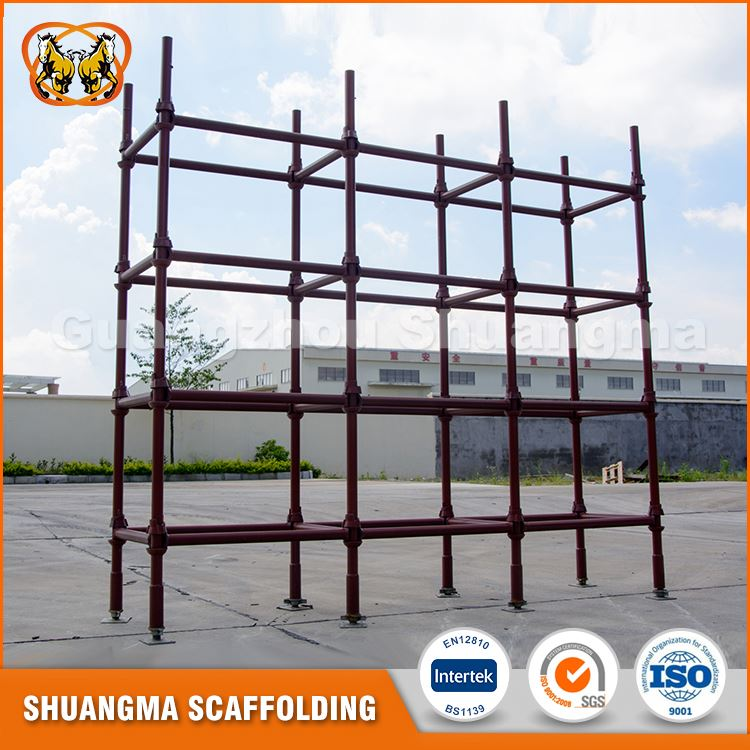 Modular type of scaffolding for building construction