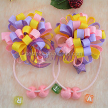 decorative grosgrain ribbon bow hair clip design for christmas decorations