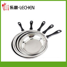 3pcs/4pcs Stainless Steel Frying Pan Africa Frier Metal Frying Pan Factory Wholesale Flast Pan
