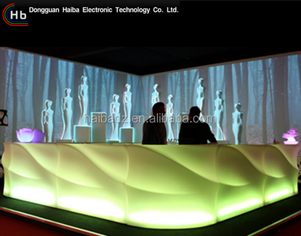 table and chair cafe bar counter design LED bar counter for events/wedding/party