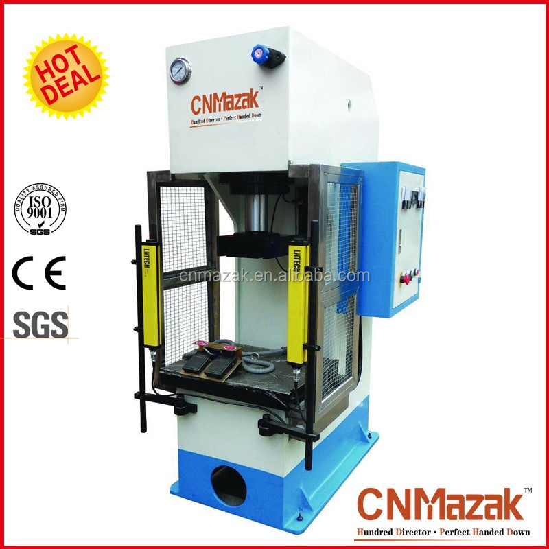 COST-EFFECTIVE Y41 single column metal plate 100ton <strong>c</strong>-frame hydraulic press fo CNMazak