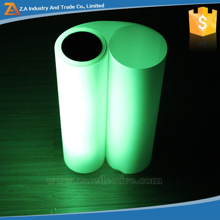 New Products 2016 Reflective New Materials Glow in The Dark Sticker Paper 3m Photoluminescents Materials for Safety