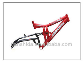 Steel full suspension bicycle frame