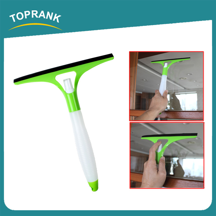 Toprank New Design Window Cleaning Squeegee Car Glass Wiper Plastic Squeegee With Water Spray