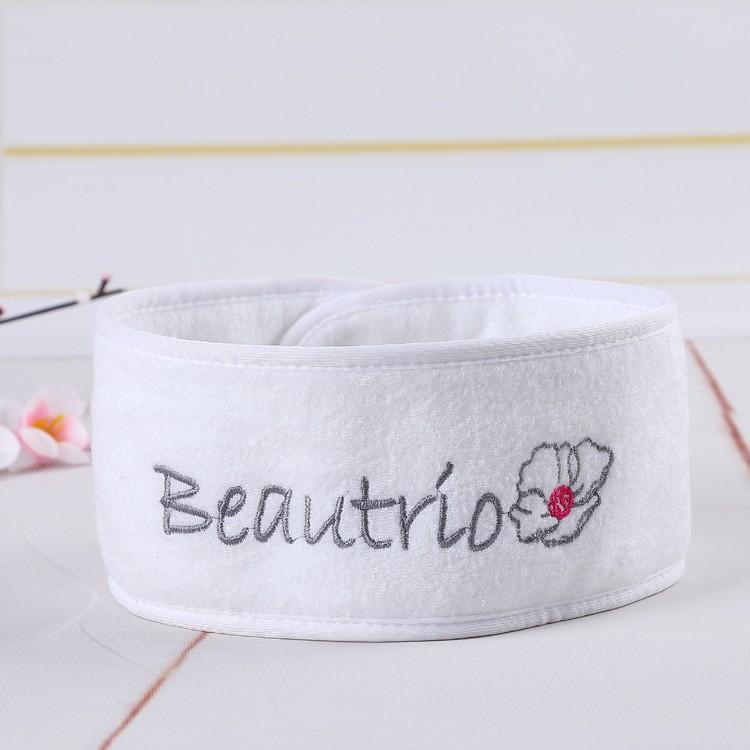 100% polyester promotionnel cadeaux cheveux bandeau avec logo brodé