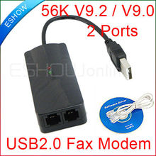 USB Fax Modem External 56K Data Voice V9.2/V9.0 2ports