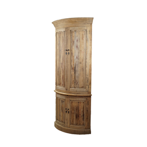 living room wooden Corner storage Cabinet with 4 doors and the panel