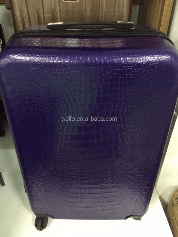 Purple Travel luggage/Carry-on suitcase/hard shell luggage