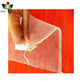 Supermarket packaged vegetable fruit small monofilament drawstring mesh bag