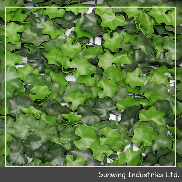 factory direct sale plastic faux leaf wall hedges for home decor