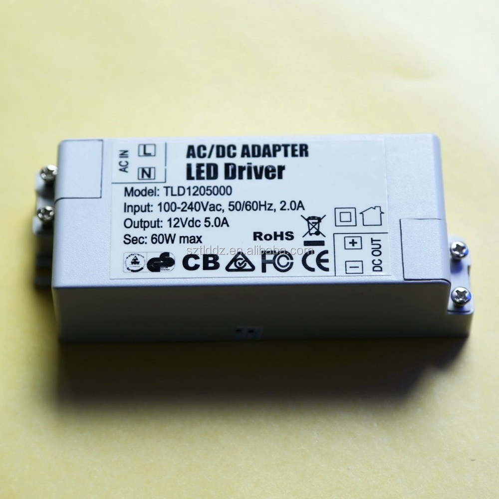 Mini size Led driver power 12V5A 60W constant voltage power supply
