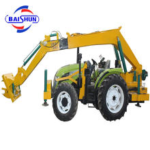 BS850 tractor mounded pole erection machine trench digging machine