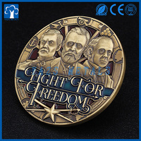 2017 gifts and crafts embossed 3D coin metal
