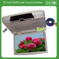 15 inch car roof mount monitor car dvd and USB SD car roof motorized monitor (XY-156)