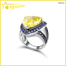wholesale price engagement lots sterling colored trillion big stone silver ring