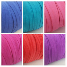 Wholesale decorative coloured fold over elastic binding tape