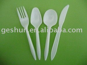 plastic cutlery set/spoon/fork/ knife