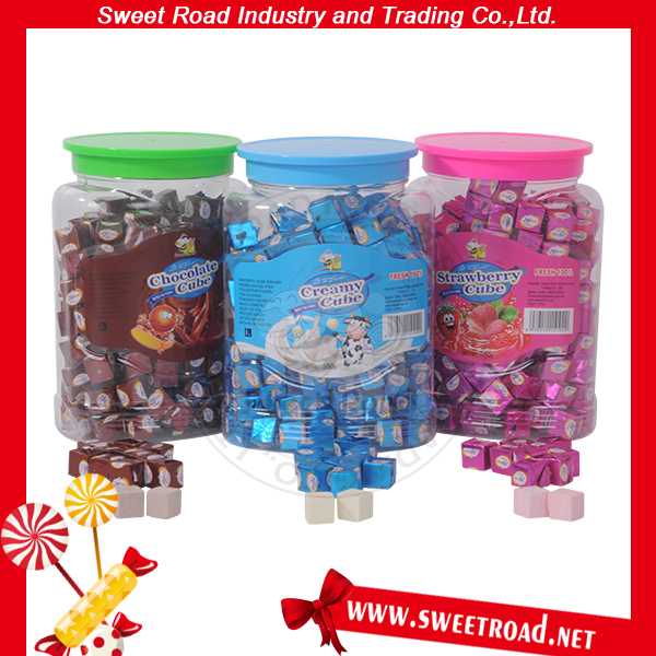 Mixed Cube Milk Tablet Sweet Square Creamy Candy