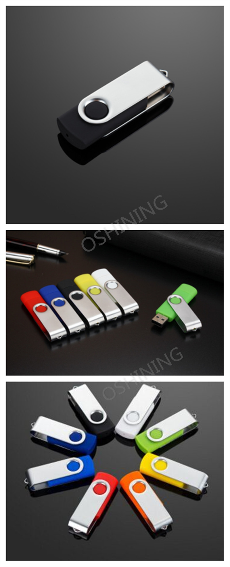 Swivel Pen Drive 8Gb 16Gb 32Gb 64Gb Usb Flash Drive Memory Stick U Disk Fast Speed Usb Flash Drive