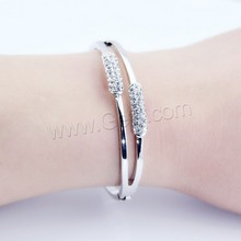 Rhinestone Zinc Alloy kara hair tie tiny bangle