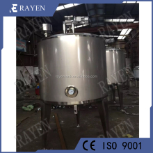 SUS304 or 316L stainless steel reaction vessel heated jacket mixing tank