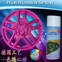 Hub Rubber Water Proof Car Wheels Paint Spray Bottle 400ML