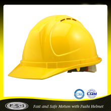 Yellow cheapest CE approval labor construction safety helmet with American standard