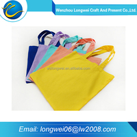 2016 Fashion colorful eco plain shopping cotton tote bag
