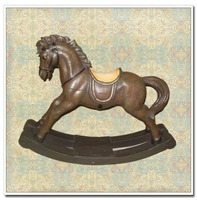 Quality Retro Rocking Horse Home Decoration Table Ornament Resin Figurine Statue of home furniture,vintage furniture living room