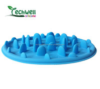 Non-toxic food grade silicone automatic dog feed bowl