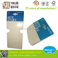 Stride rite Foldover card Jewelry Packaging&Display Type Paper cardboard folding display card with hot stamp logo