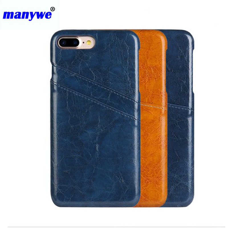 New brand manywe pu leather phone case custom for iphone 5,6,7 ,7 plus