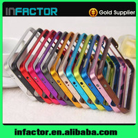 Mobile phone cover case buckle metal frame with key for Samsung Galaxy S4