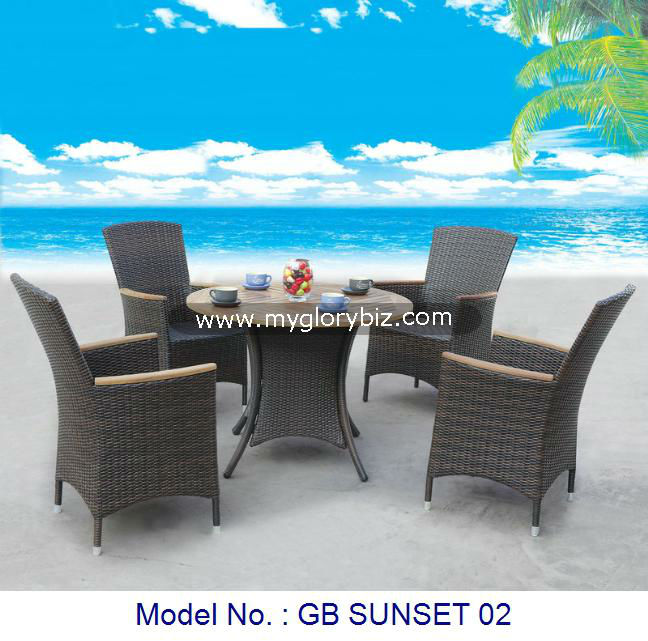 Modern Dining Set Rattan Furniture, Rattan Dining Furniture, Garden Set Outdoor Furniture Armchairs Tea Table