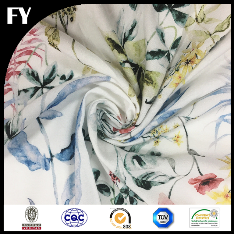 Factory Direct Custom Digital Printing Rayon Knitted Fabric