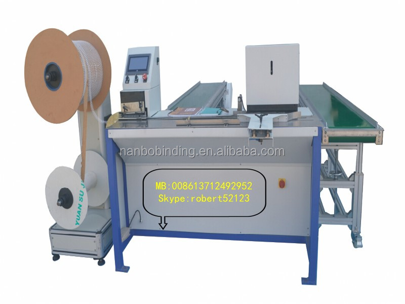 WNB-400 Double Loop Wire Binding Machine for book binding, Paper Processing Machine Double Wire Binding Machine